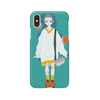キョンシー風お札トレーナー Smartphone cases