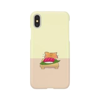猫のナナちゃんとマグロのお寿司 Smartphone cases