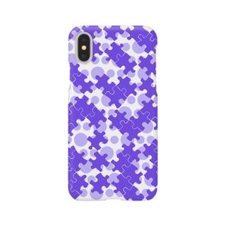 パズル(パープルドット) Smartphone cases