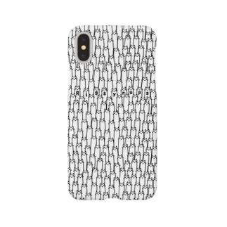 長い猫集団 Smartphone cases