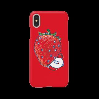 MOGUMO SHOPのいちごもぐもぐくん Smartphone cases