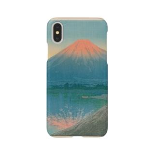 山中湖の夕焼け Smartphone cases