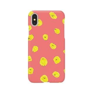 ひよこまみれ_桃 Smartphone cases