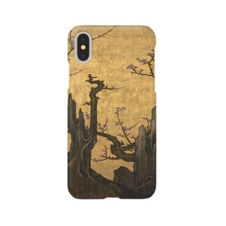 狩野山雪 老梅図襖 Smartphone cases