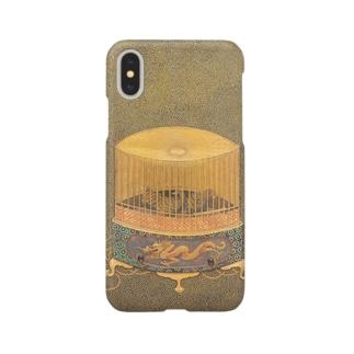 鳥籠蒔絵硯箱 Smartphone cases