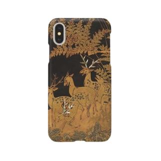 鹿秋草蒔絵硯箱 Smartphone cases