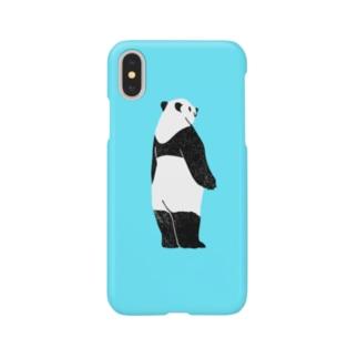 見つめるパンダ Smartphone cases