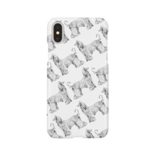 アフガンハウンド柄 Smartphone cases