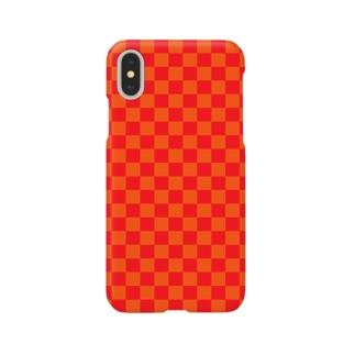 checker flag* (Orange×Red) スマートフォンケース