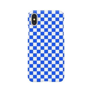 checker flag* (Blue) スマートフォンケース