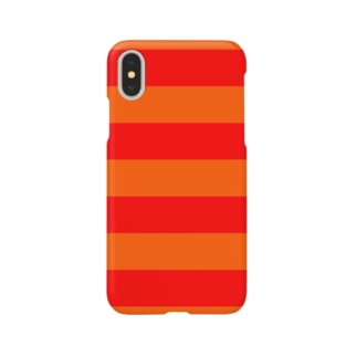 Border Stripe (Orange × Red) Smartphone cases
