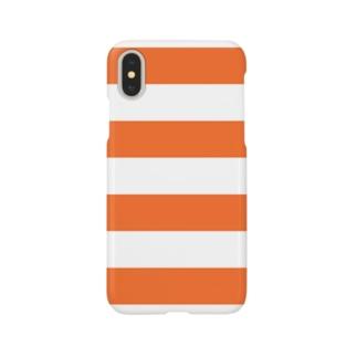 Border Stripe (Orange) スマートフォンケース