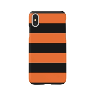 Border Stripe (Black × Orange) Smartphone cases