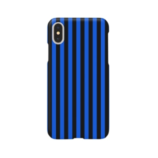 Stripe (Black × Blue) Smartphone cases