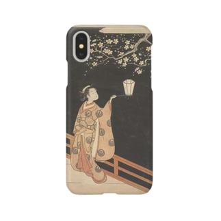 鈴木春信 夜の梅 Smartphone cases