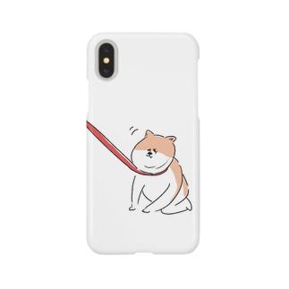散歩イヤイヤワンちゃん Smartphone cases