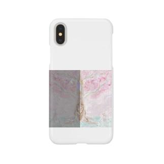 桜の木の下で猫何匹?色違いだよ Smartphone cases