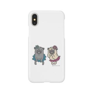 おなかぽよんアイドルパグちゃん☆ Smartphone cases