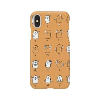 はにわ文字(orange) Smartphone cases