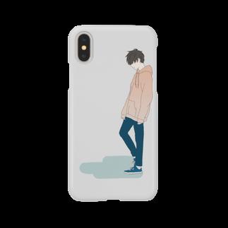 空腹のパーカー男子 Smartphone cases