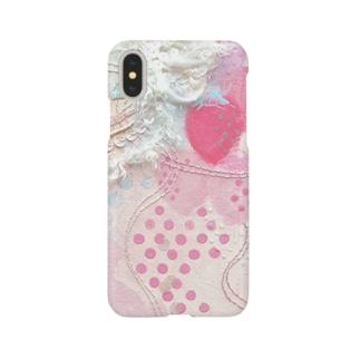 いちご柄iPhoneケース*これだけでいいの。 Smartphone cases