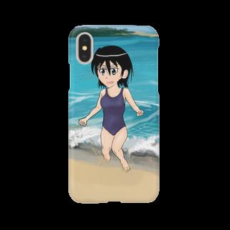 げーむやかんのスクール水着浜辺 Smartphone cases