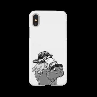 中村香月の帽子をかぶり直す Smartphone cases