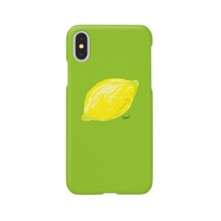 檸檬 緑 スマートフォンケース