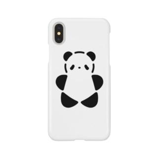 SIROPANDAワンポイント(大)(Black) Smartphone cases