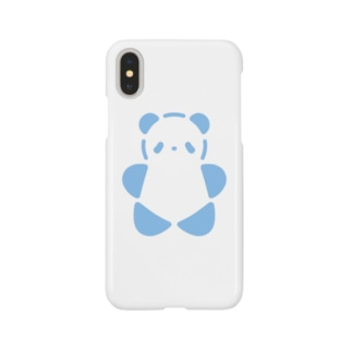 SIROPANDAワンポイント(大)(Blue) Smartphone cases