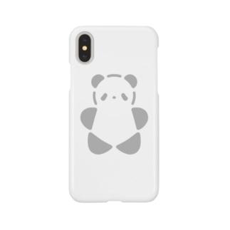 SIROPANDAワンポイント(大)(Gray) Smartphone cases