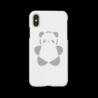 SIRO%(しろぱーせんと)のSIROPANDAワンポイント(大)(Gray) Smartphone cases