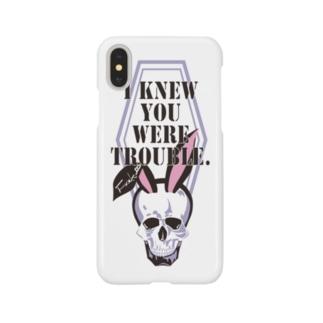 うさ耳スカル Smartphone cases