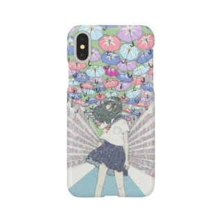 アサガオ傘 Smartphone cases