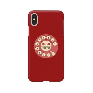 赤電話 レトロ【iPhoneX】 Smartphone cases