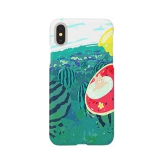 夏はスイカ Smartphone cases