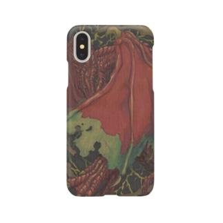 森の赤い竜 Smartphone cases
