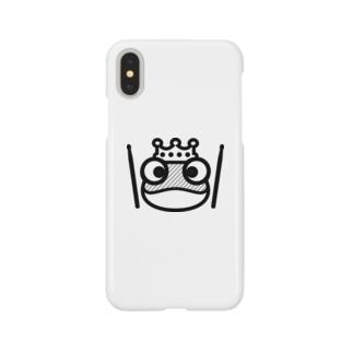 カエルとドラム ロゴ1 Smartphone cases