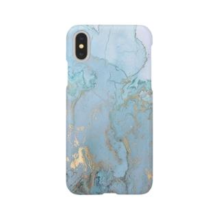 marble【blue】 スマートフォンケース