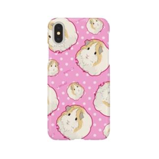 シェルティモルモットのこむぎさんピンクドット Smartphone cases