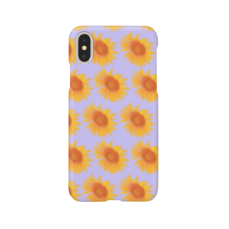 イラストレーター yasijunのひまわり Smartphone cases