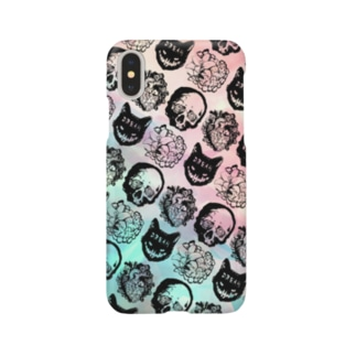 iPhoneケース【Nightmare】Flower Smartphone cases