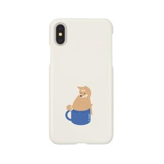 お尻が入らないエスプレッソ柴犬 Smartphone cases