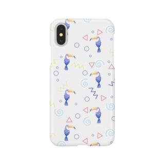 トロピカルバード(white) Smartphone cases