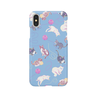 Fanfleecyのmeow meow(blue) Smartphone cases