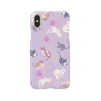 meow meow(purple) Smartphone cases