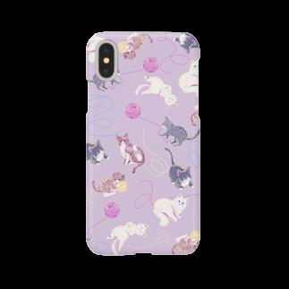 Fanfleecyのmeow meow(purple) Smartphone cases