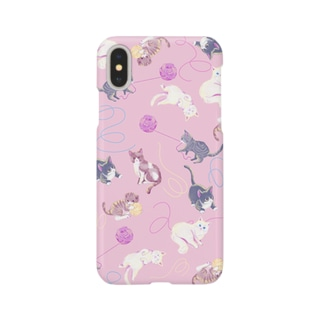 meow meow(pink) Smartphone cases