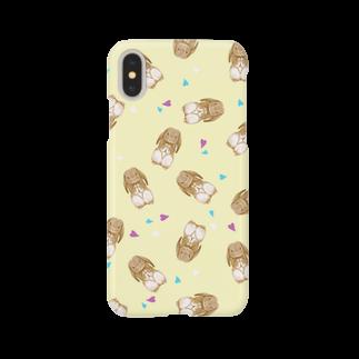 Fanfleecyのホーランドロップ(オレンジ) Smartphone cases