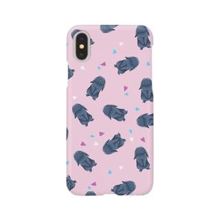 ホーランドロップ(ブラック) Smartphone cases